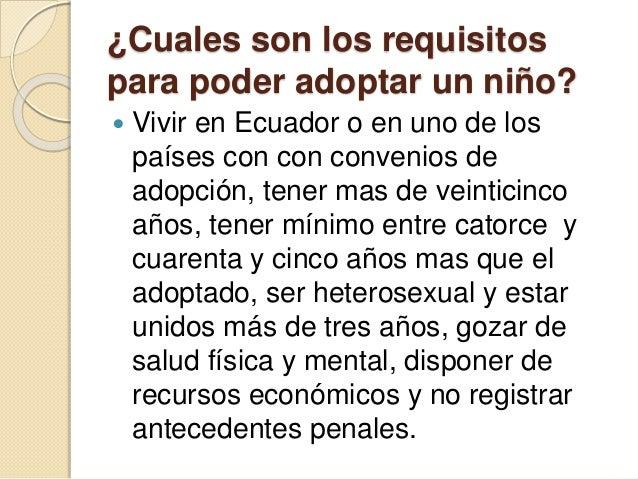 Requisitos para adoptar adopcion en el ecuador - Requisitos para casarse ...