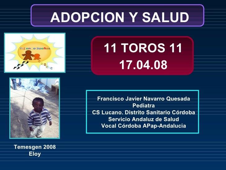 Francisco Javier Navarro Quesada Pediatra CS Lucano. Distrito Sanitario Córdoba Servicio Andaluz de Salud Vocal Córdoba AP...