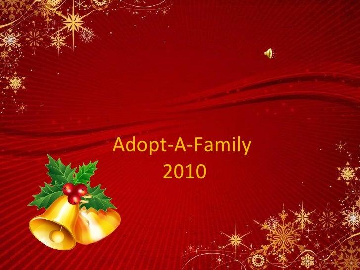 Adopt-A-Family  2010