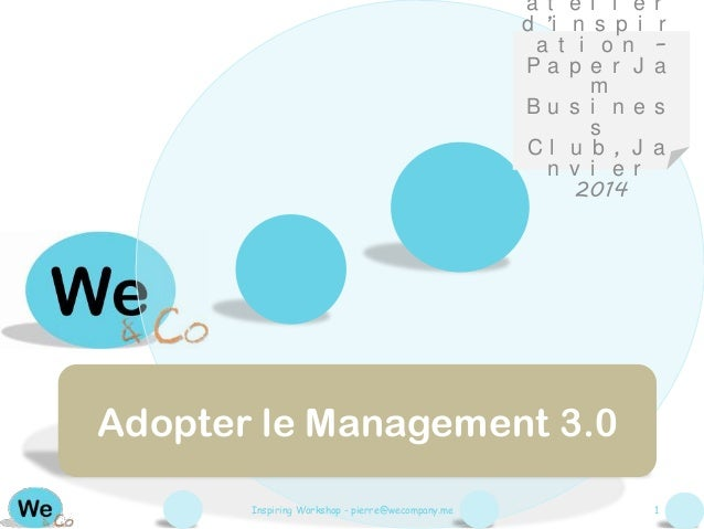 Adopter le management 3.0