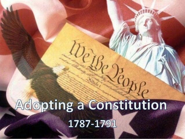 Adopting a Constitution