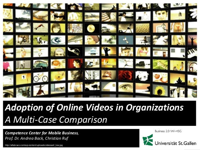 1Competence Center for Mobile Business,Prof. Dr. Andrea Back, Christian RufAdoption of Online Videos in OrganizationsA Mul...