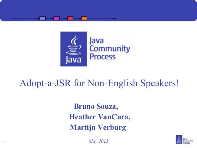 Adopt-a-JSR for Non-English speakers