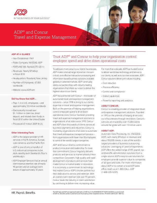 Adp concur partnership brochure
