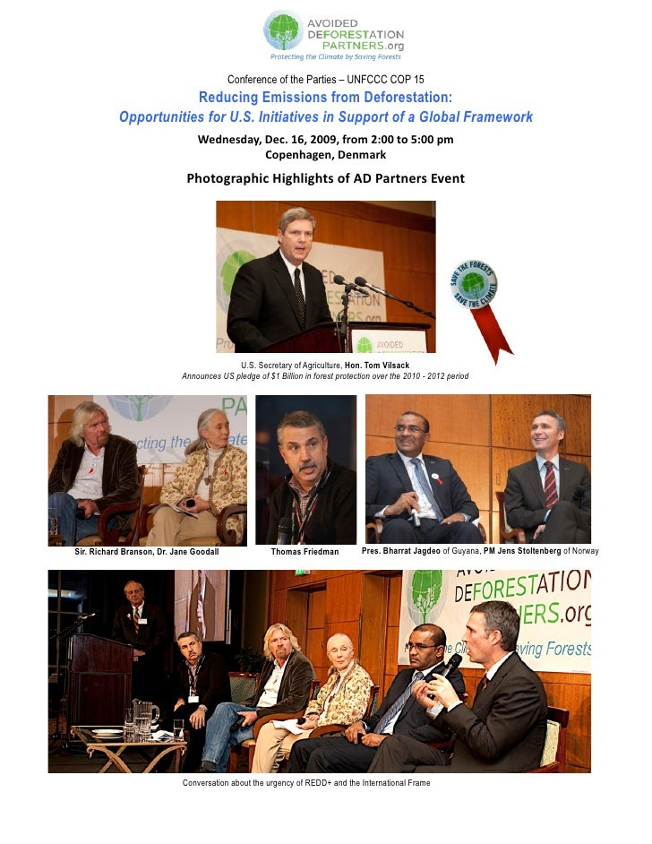 Conference of the Parties – UNFCCC COP 15                       Reducing Emissions from Deforestation:           Opportuni...