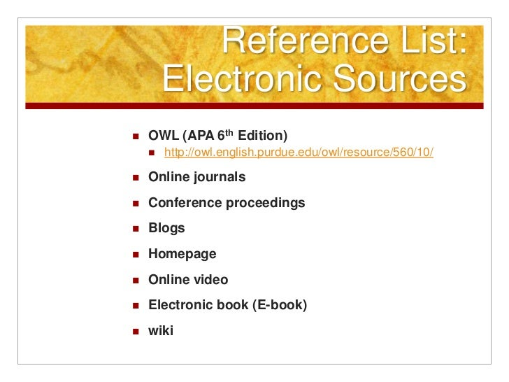 Apa owl reference list