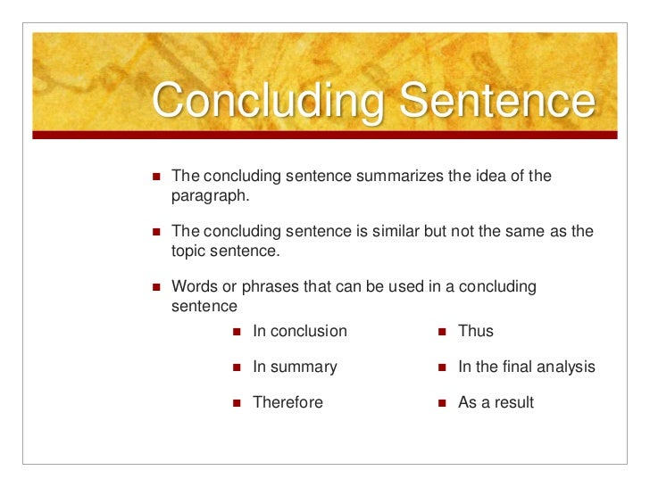 Good sentences for concluding essays
