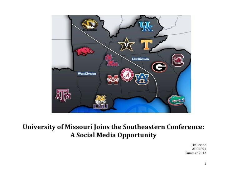 ADPR891 Social Media Plan: University of Missouri Joins the SEC