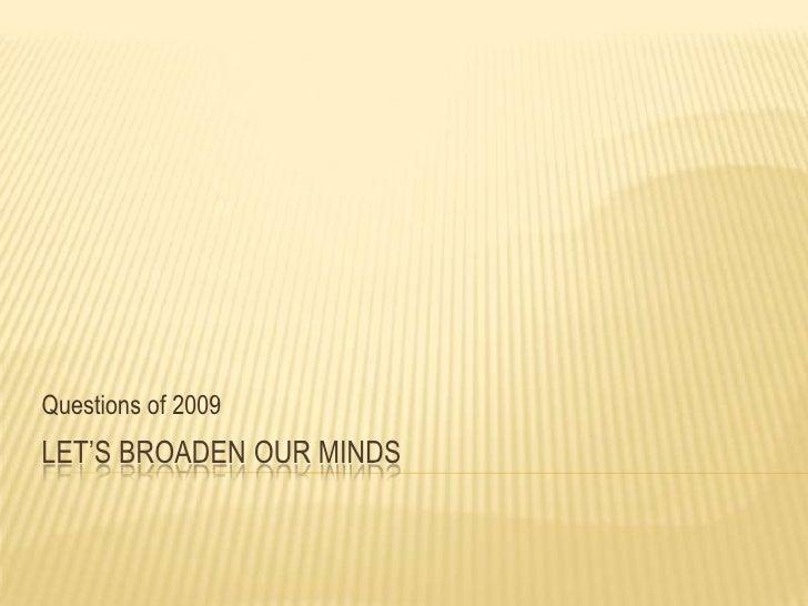 BQC August 2009