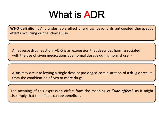 Introduction to Adverse Drug Reactions