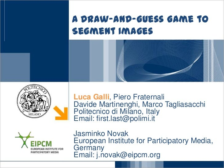 A draw and-guess game to segment images