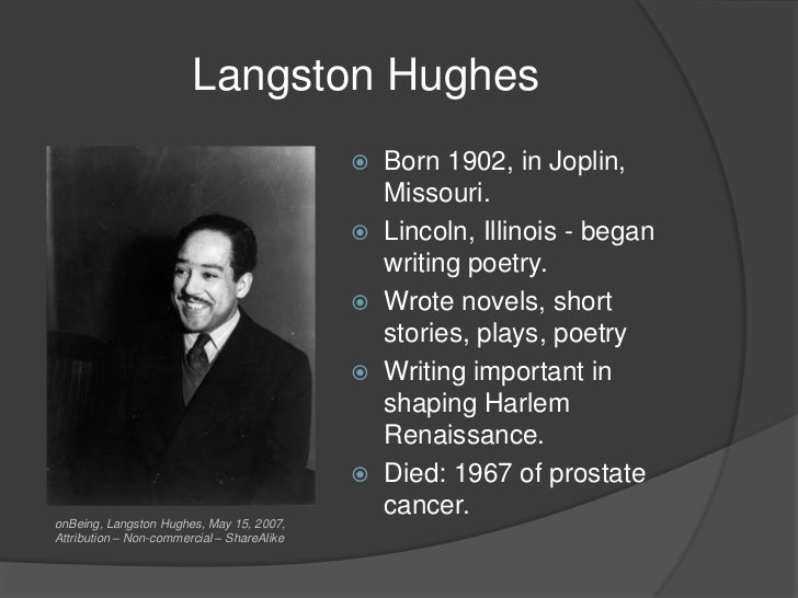 langston hughes poetry analysis This essay presents the analysis of langston hughes poems it should be mentioned that langston hughes was a member of the new negro renaissance, a group of.