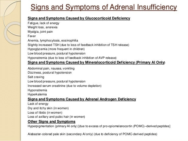 adrenal insufficiency after steroid therapy