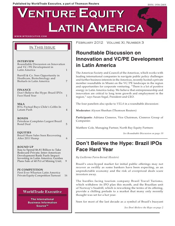 Adriana Cisneros - Roundtable Discussion on Innovation and VC/PE Development in Latin America