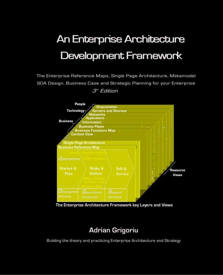 Book cover: An Enterprise Architecture Development Framework