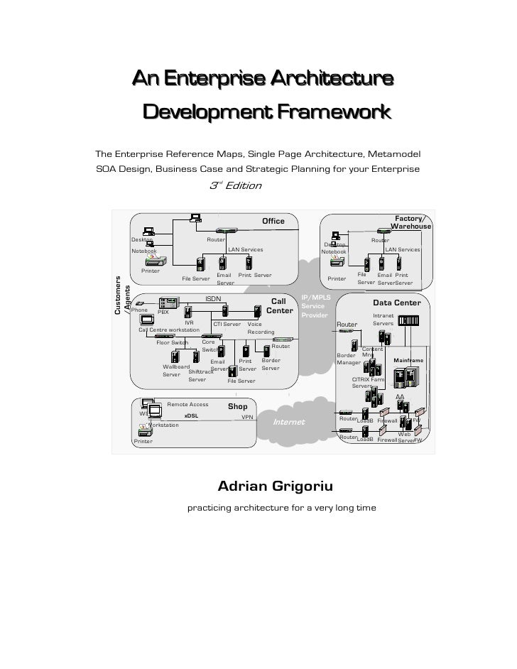 An Enterprise Architecture                 Development Framework The Enterprise Reference Maps, Single Page Architecture, ...