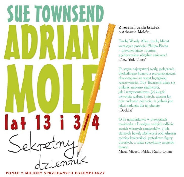 Adrian Mole. Sekretny dziennik lat 13 i 3 4 - Sue Townsend ebook