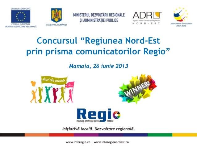 Promovarea Regio în regiunea Bucuresti-Ilfov