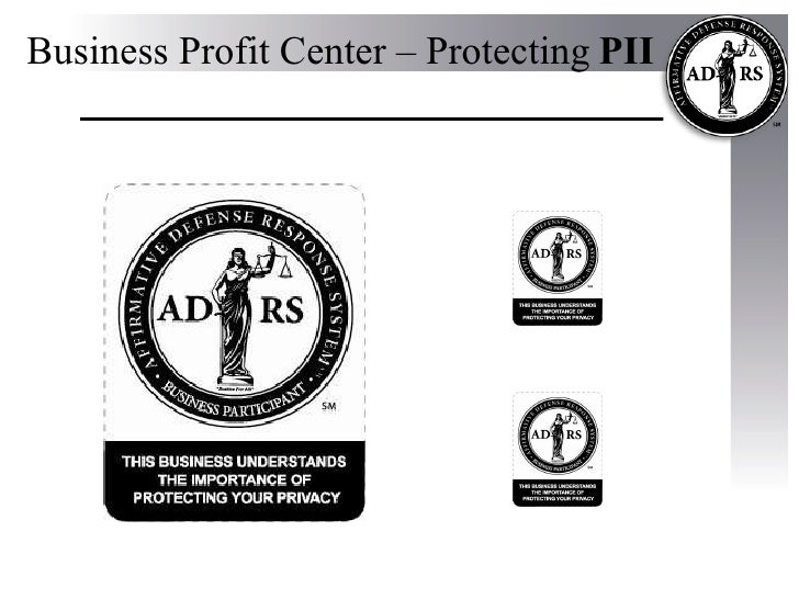 Business Profit Center – Protecting   PII