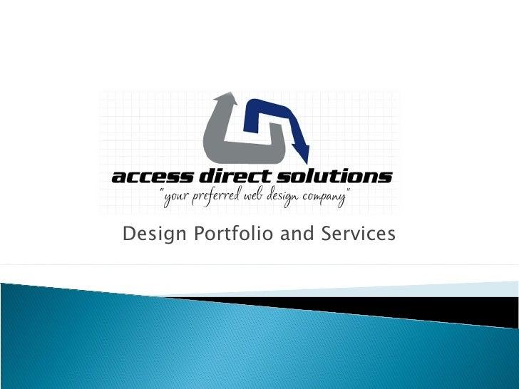Design Portfolio and Services