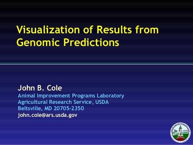 Visualization of Results from Genomic Predictions