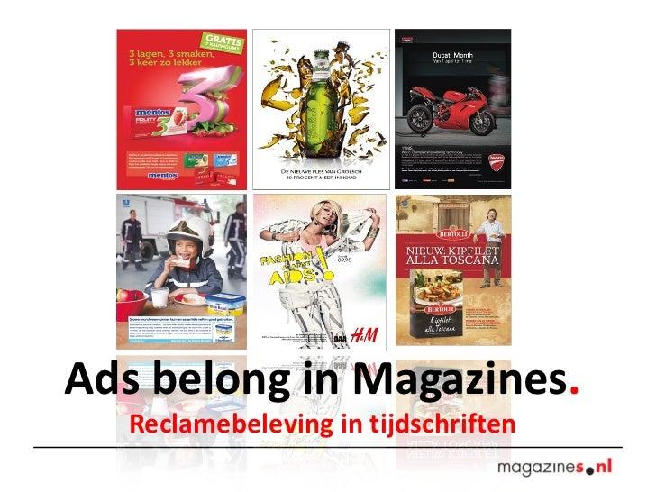 Ads belong in magazines