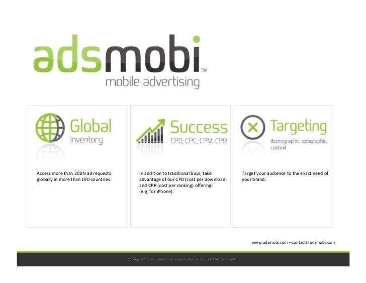 Adsmobi Media Kit 2011