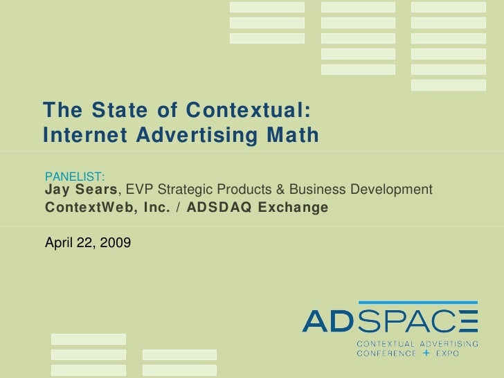 ADSPACE State of Contextual Advertising — Jay Sears