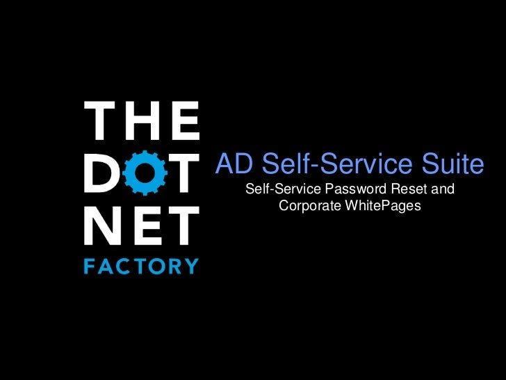 Active Directory Self-Service Suite Overview