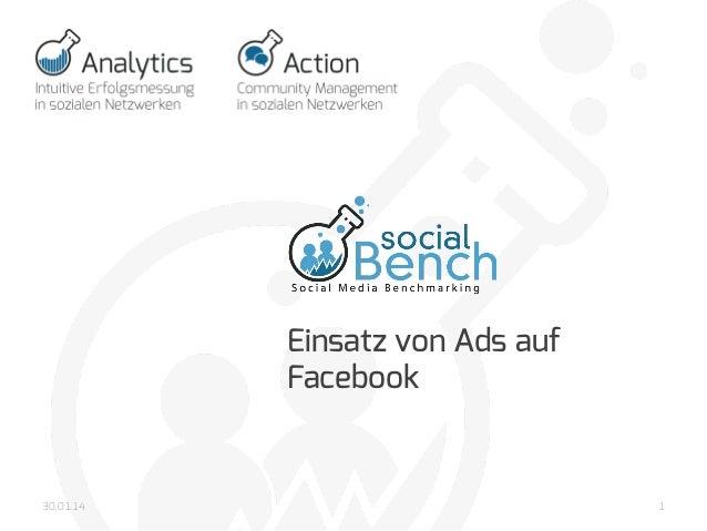 30.01.14  Einsatz von Ads auf Facebook      1