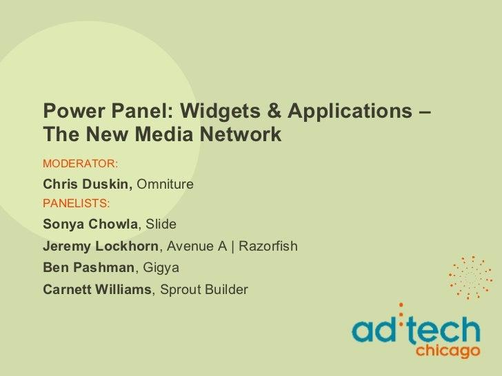 ad:tech Chicago 2008 - Widgets Panel