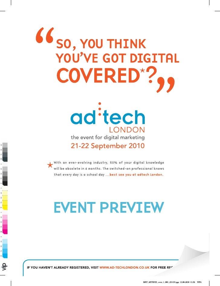 Ad Tech Supplement   Marketing Magazine September Issue 2010