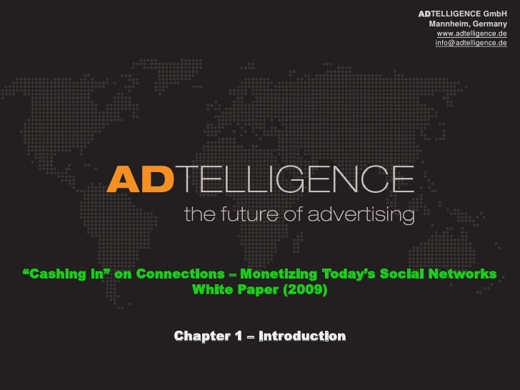 ADTELLIGENCE_ White Paper_Monetization of Social Networks_Chapter1