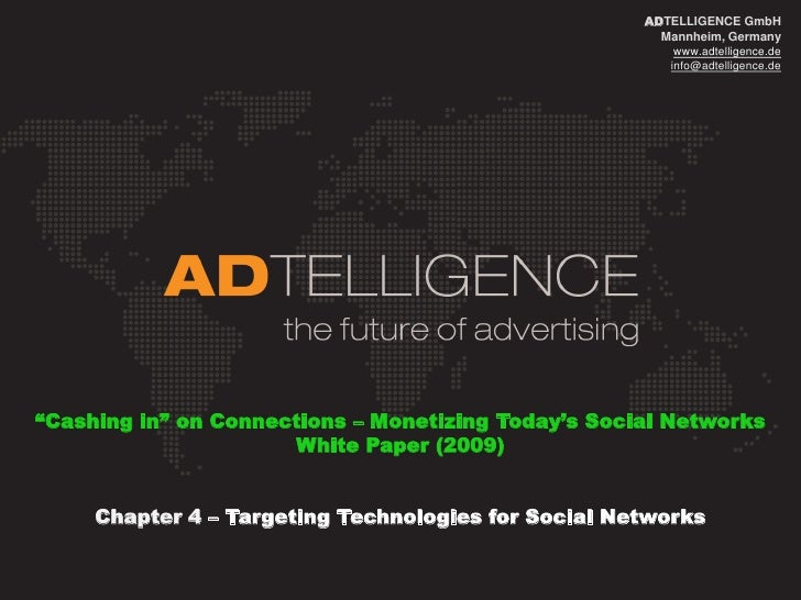 ADTELLIGENCE_ White Paper_Monetization of Social Networks_Chapter4