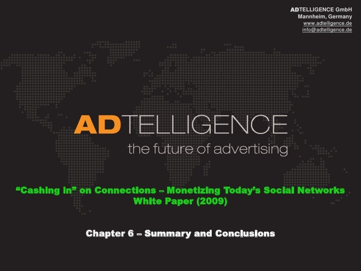 ADTELLIGENCE_White Paper_Monetization of Social Networks_Chapter6