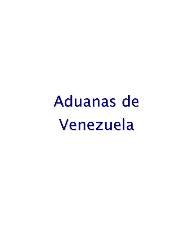 Aduanas de venezuela