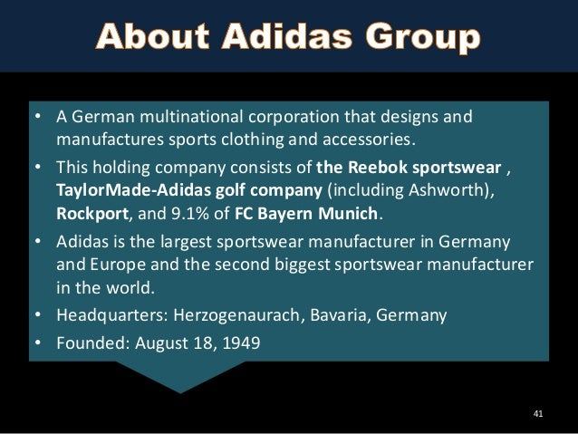 vision and mission of adidas Brand philosophy brand values sharing the grand vision of the group, adidas  strives to be the global leader in the sporting goods industry living with a passion .