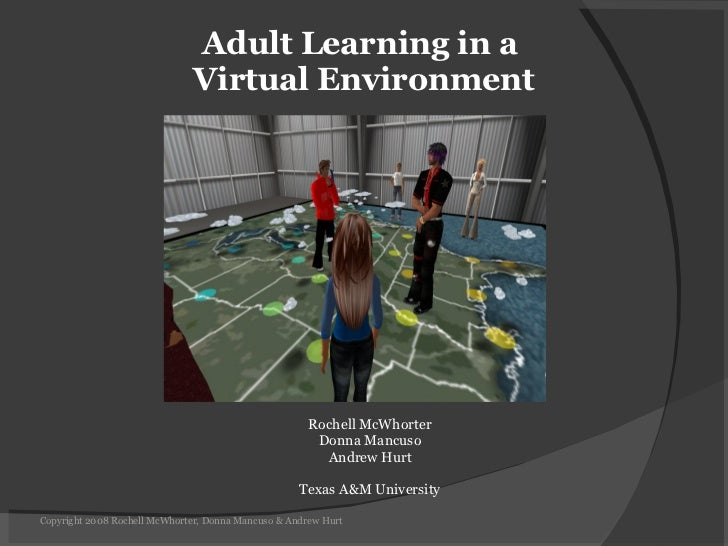 Adult Learning In A Virtual Environment, AHRD 2008