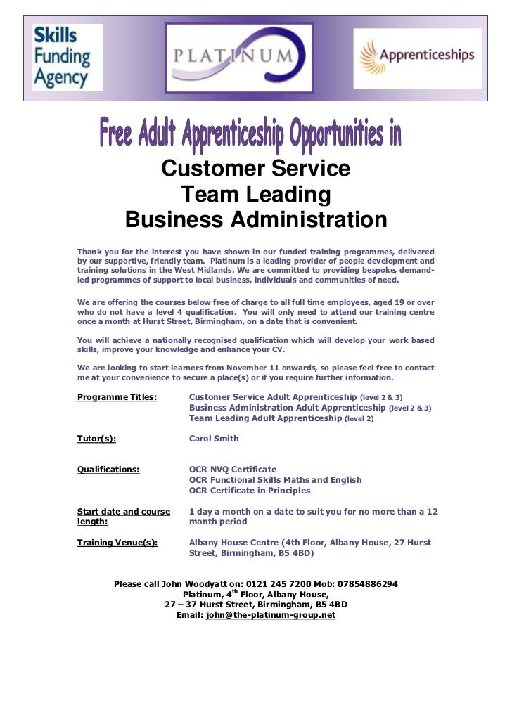 Customer Service                 Team Leading            Business AdministrationThank you for the interest you have shown ...
