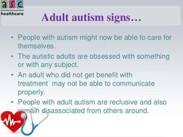 Checklist symptoms adult autism