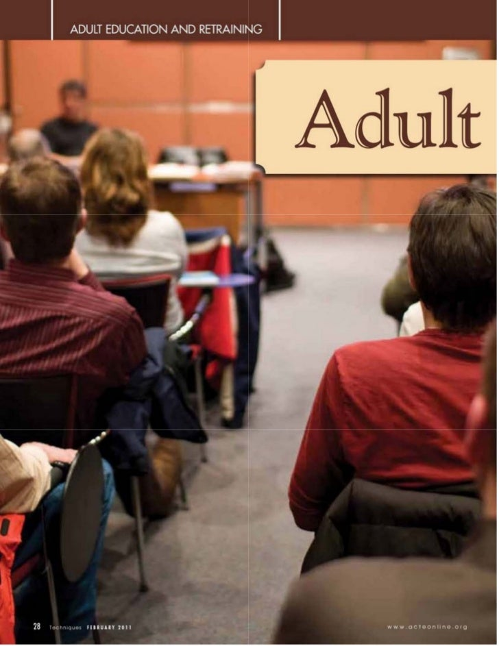 Adult learners considerations for education and training