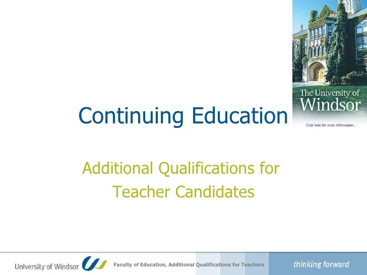 Professional Learning Series: Adult Qualifications for Teacher Candidates