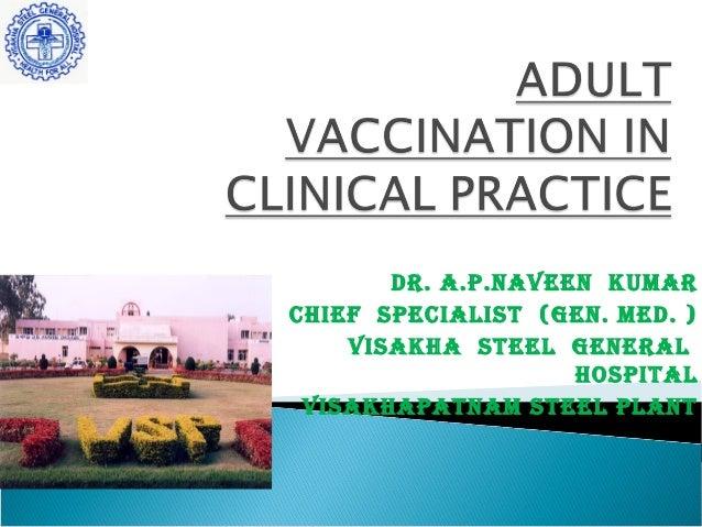 Adult immunisation schedule