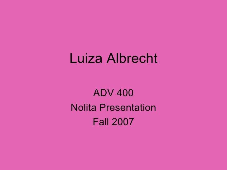Adv 400 Nolita Presentation