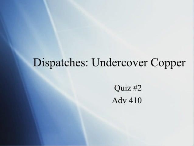 Adv 410 Quiz 2