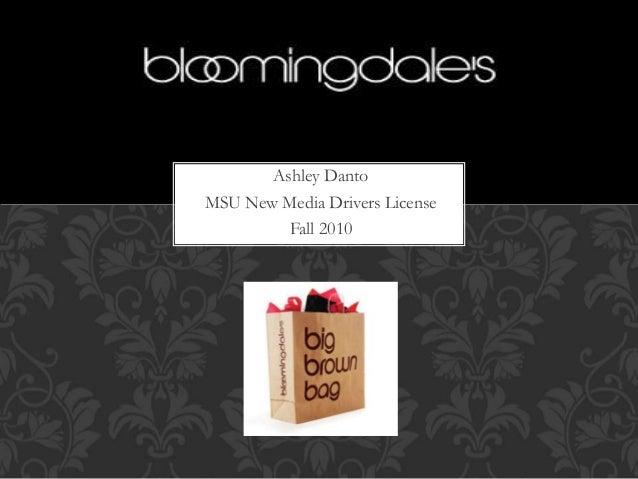 Bloomingdales Presentation