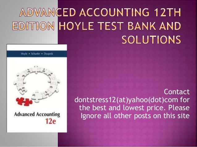 advanced accounting 11th edition hoyle pdf