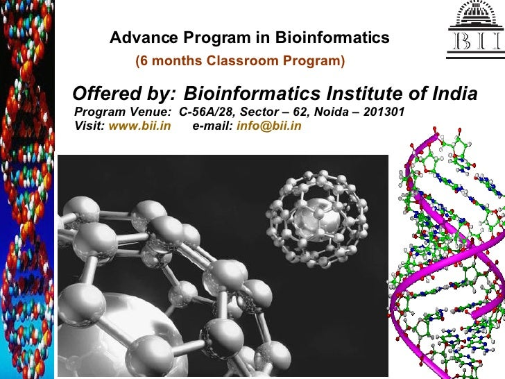 Advance Program In Bioinformatics