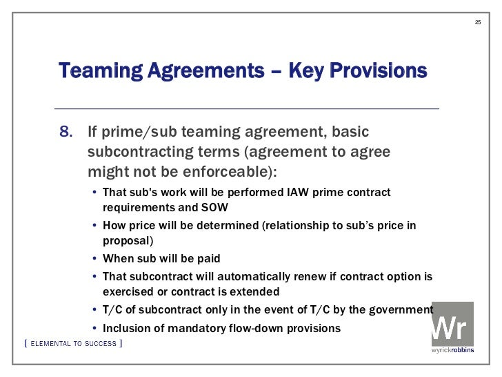 Teaming And Limitations On Subcontracting In Federal Contracts
