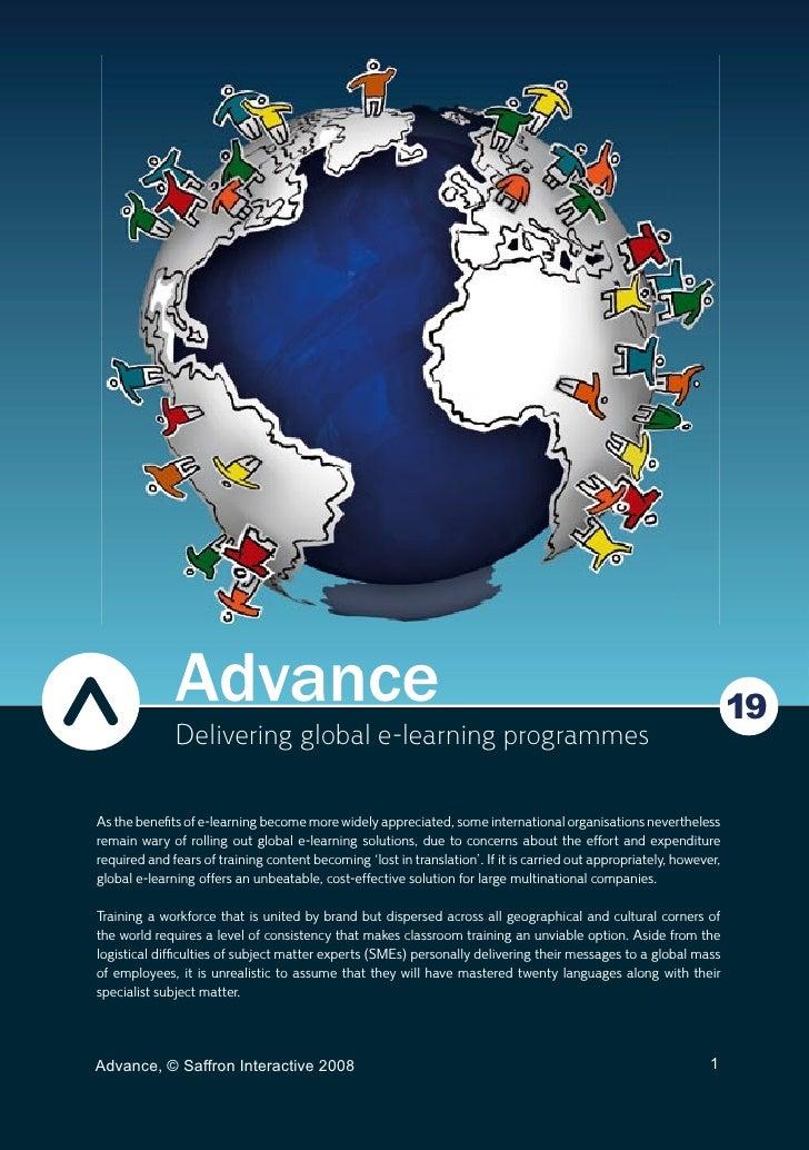 Delivering global e-learning programmes